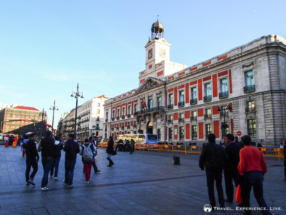 Puerta del Sol in central Madrid