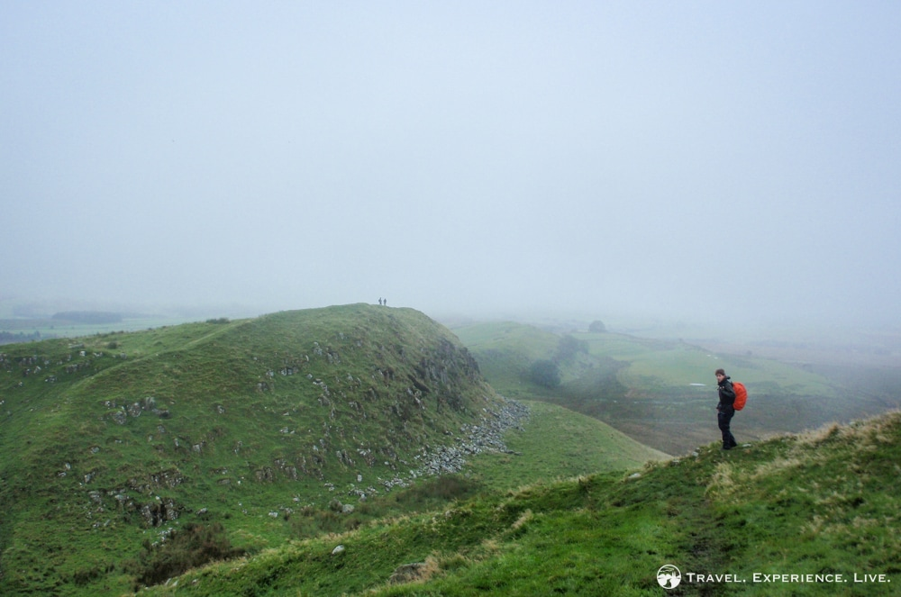 Hiking Hadrian's Wall Path: A Misty Lookout