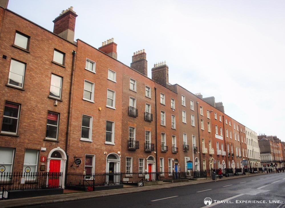 Row houses in Georgian Dublin