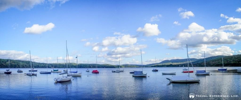 Boats in Mascoma Lake, New Hampshire