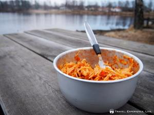 Delicious bowl of spaghetti and tomato sauce