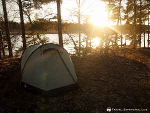 Camping at a deserted campground, Sweden
