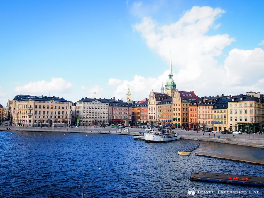 The gorgeous waterfront of Stockholm, Sweden