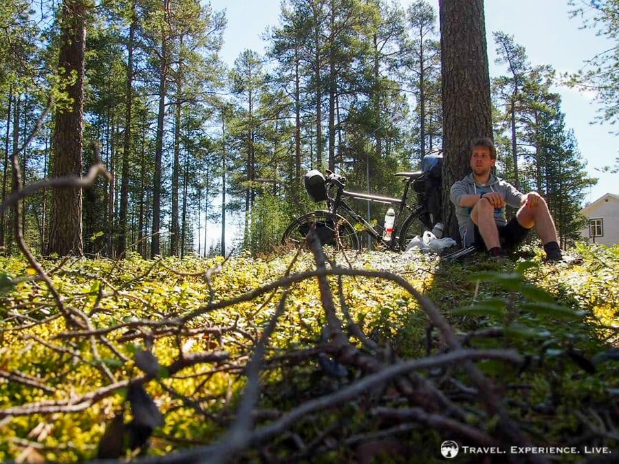 Lunch break somewhere in northeastern Sweden