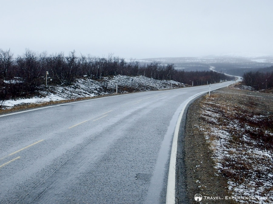 Cycling in a snowstorm, northern Norway
