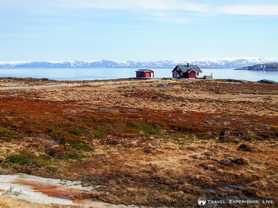 A lonely house on the Arctic tundra