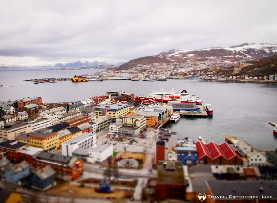 My Hurtigruten ship at its dock in Hammerfest, Norway