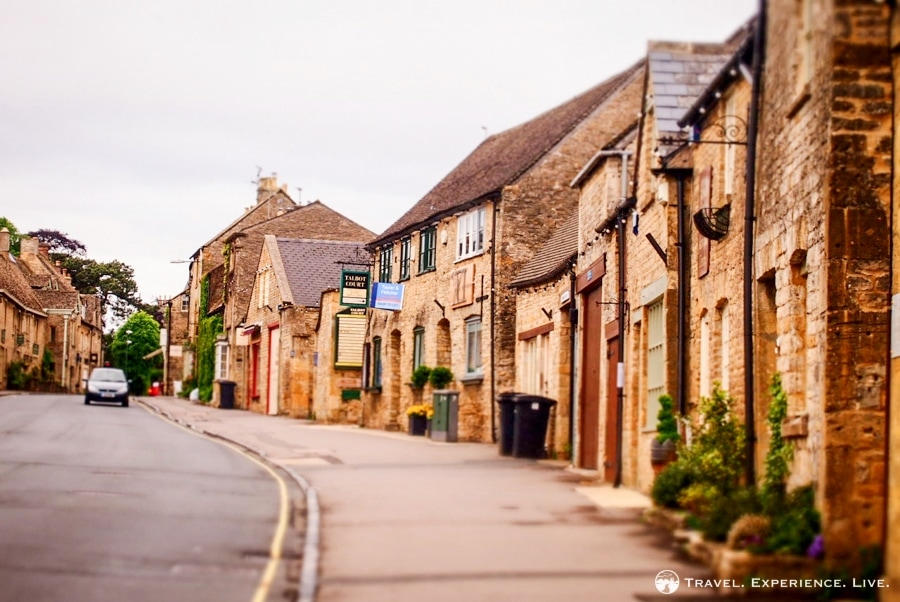 A typical street in the fantastic Cotswolds region, western England