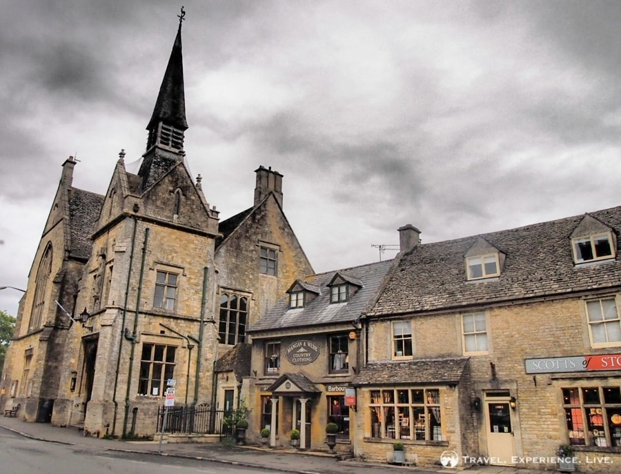 Rain clouds rolling in in Stow-on-the-Wold in the Cotswolds, England