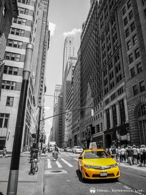 Taxi on Fifth Avenue, Manhattan, NYC