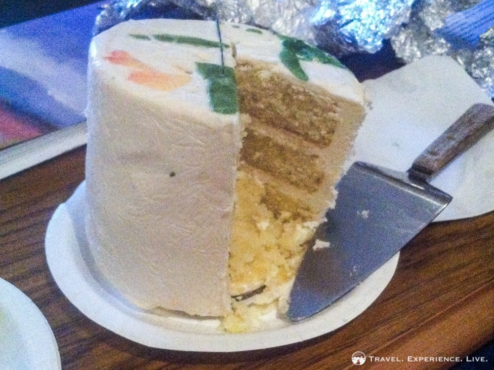 Anniversary in Stowe: leftover wedding cake