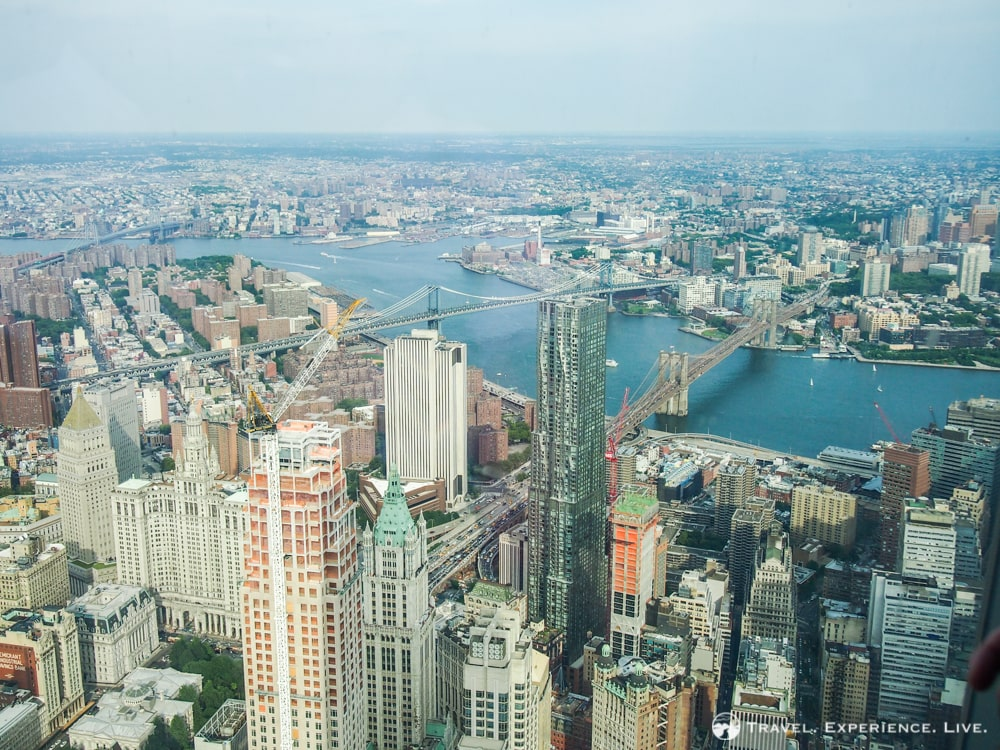 Brooklyn Bridge seen from One World Observatory