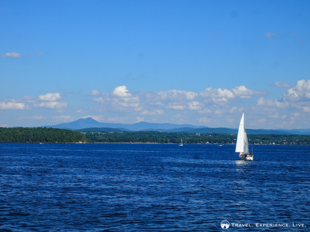 Camel's Hump seen from Lake Champlain, Vermont