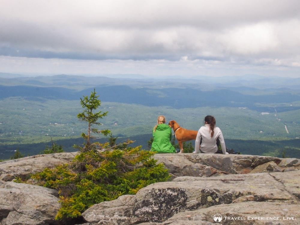 Courtney and Caroline hiking Mount Kearsarge