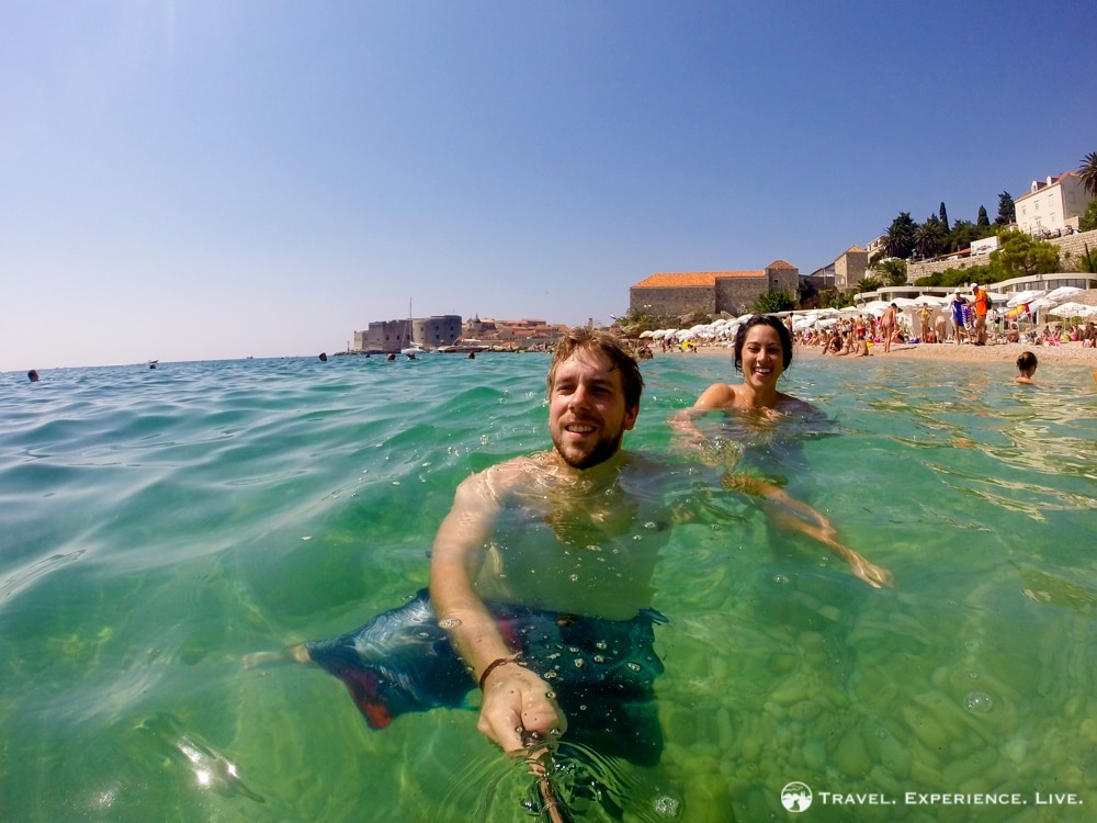 Swimming with a view in Dubrovnik, Croatia