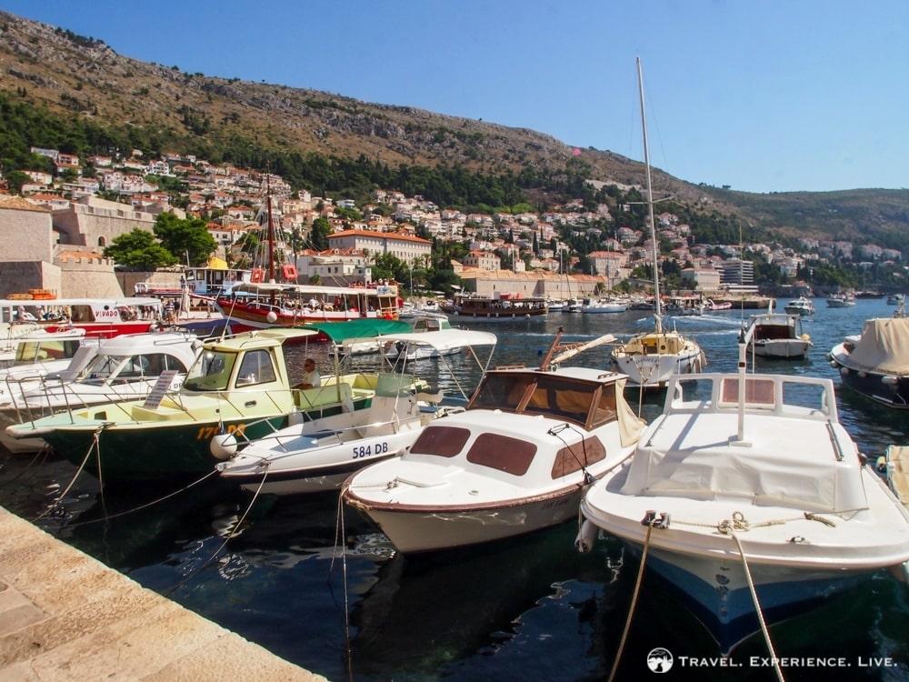 Boats on the Dalmatian coast, Croatia