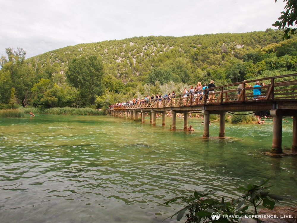 Bridge near Skradinski Buk waterfall, Krka, Croatia