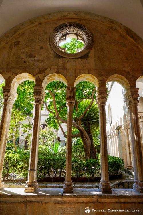 Inside the beautiful Franciscan Monastery