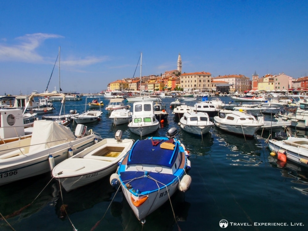 Mediterranean road trip: Harbor in Rovinj, Croatia
