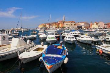 Mediterranean road trip: Harbor in Rovinj, Croatia