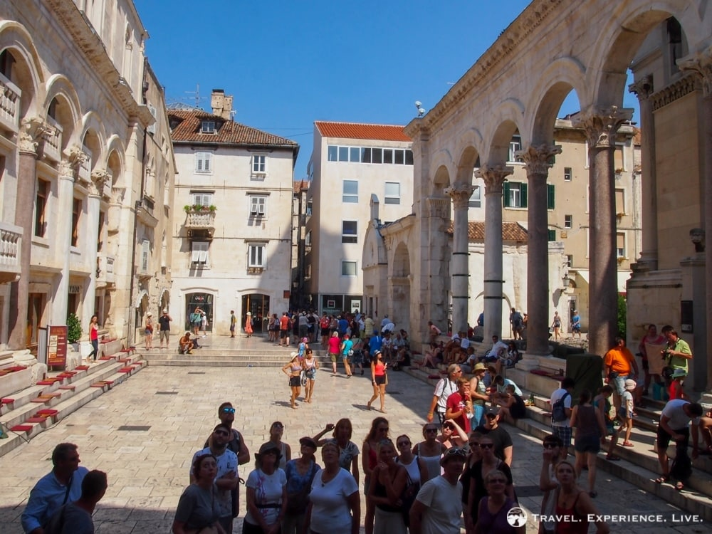 Peristil in the Palace of Diocletian, Split