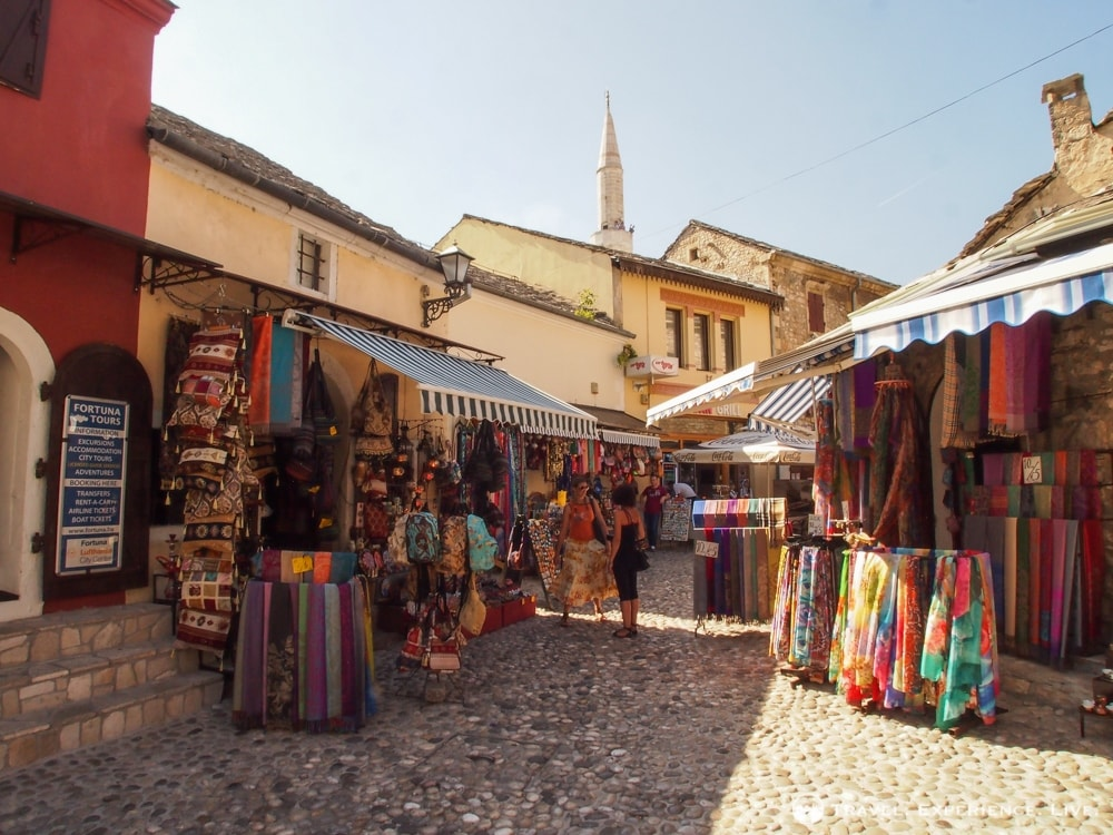 Bazaar in Mostar, Bosnia and Herzegovina