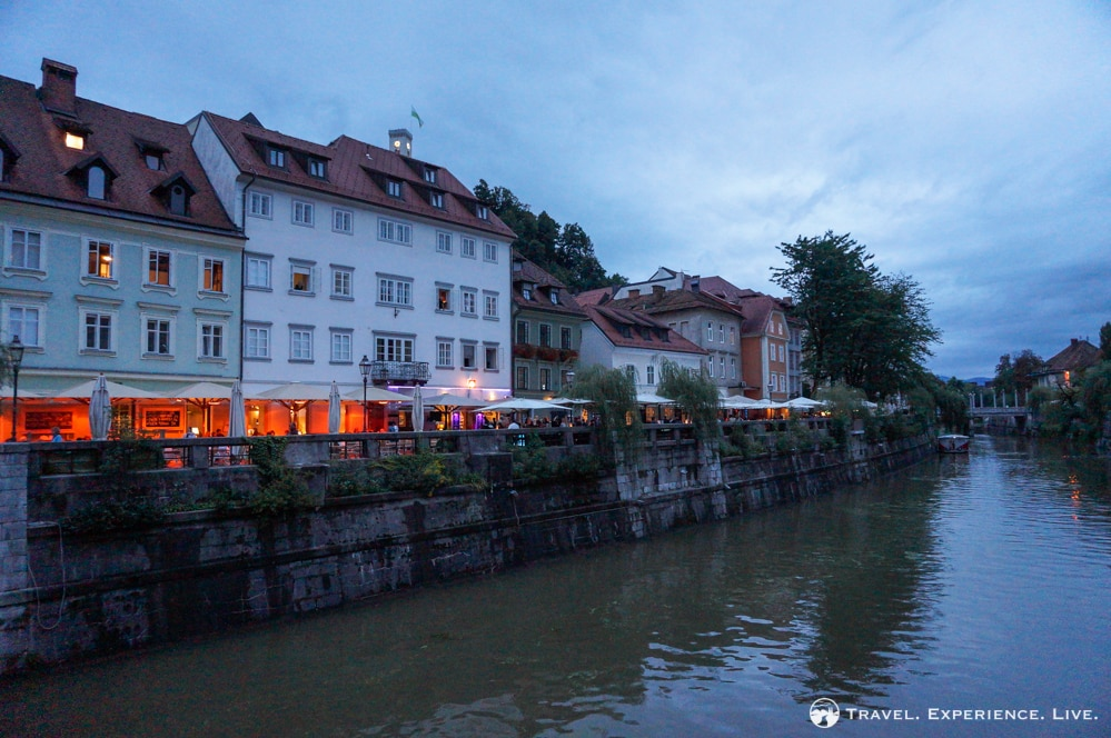 Dining venues along the Ljubljanica River
