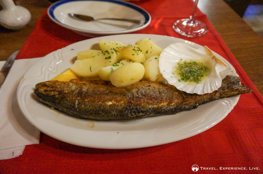 Slovenian Food: Grilled trout, Bohinj