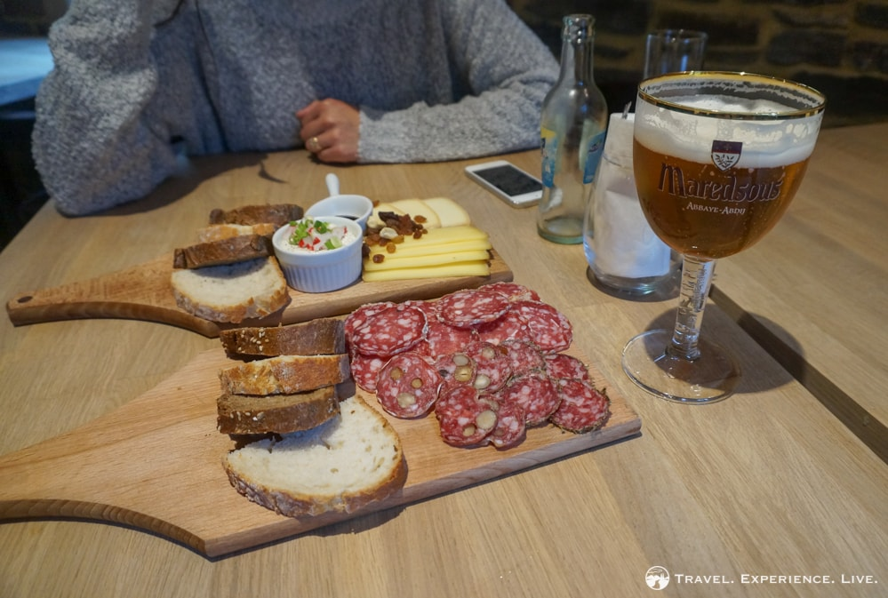 Cheese and sausages in Villers-la-Ville, Belgium