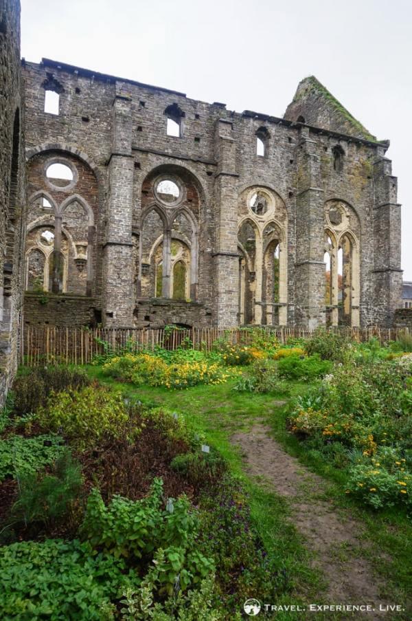Herb garden in Villers Abbey, Villers-la-Ville