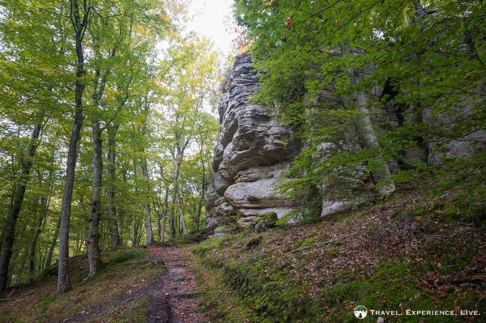 Rock cliffs on the Müllerthal Trail