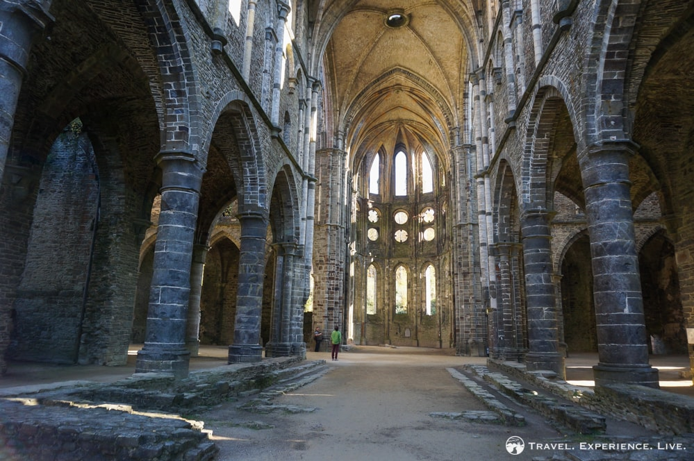 Ruined church in Villers-la-Ville, Belgium