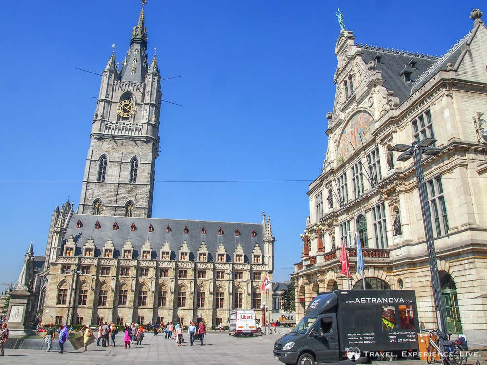 Visiting Ghent, Belgium: Belfry and cloth hall, Ghent