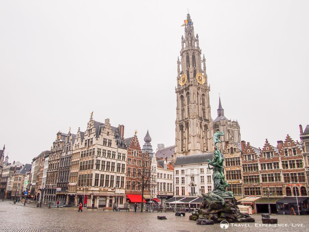 Old Market Square of Antwerp, Belgium