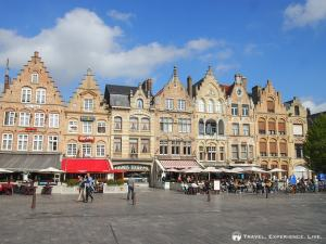 Beautiful houses on Ypres' town square