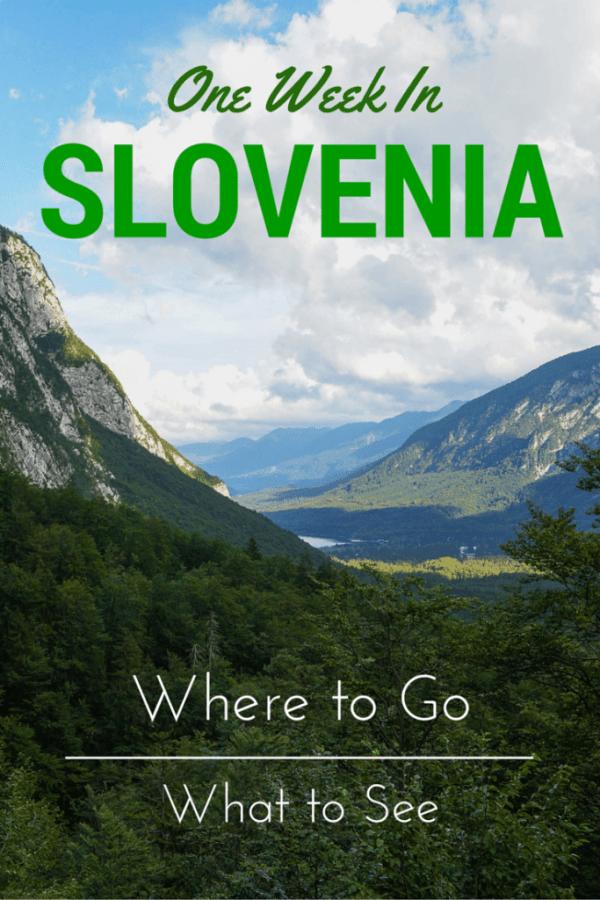 One Week in Slovenia