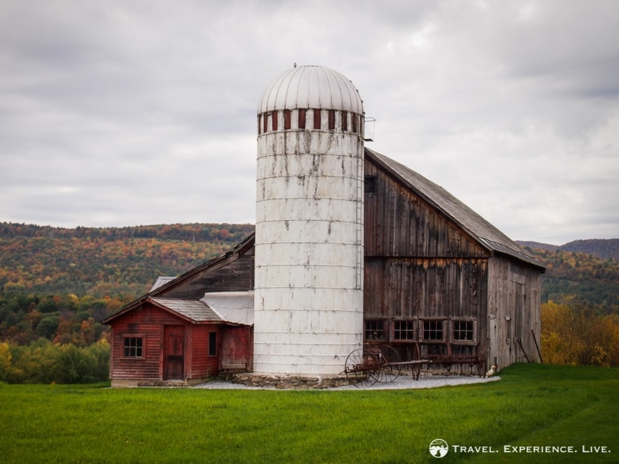 Old farm building in the Lake Champlain Valley, Vermont