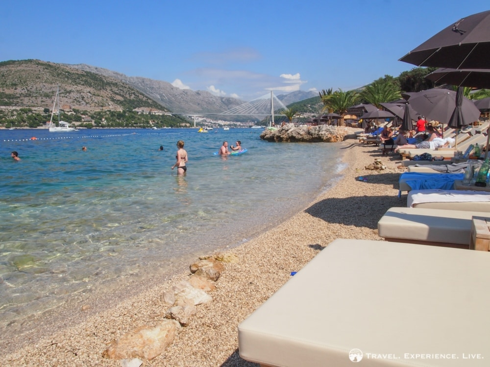 Accomodation in Croatia: Beach near Camping Solitudo, Dubrovnik