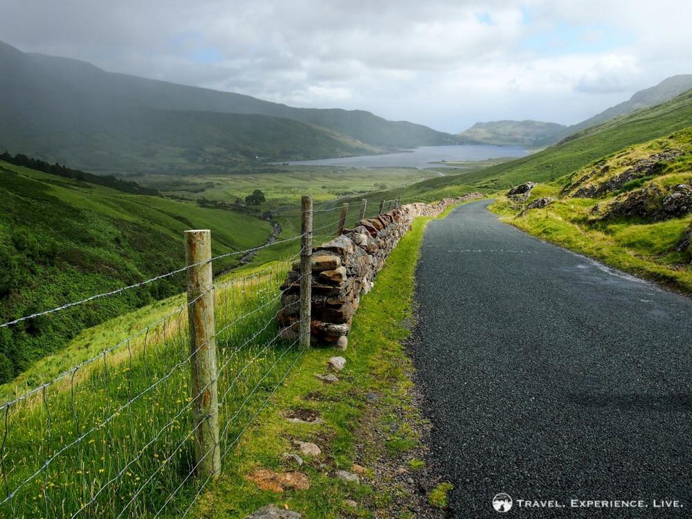 Narrow road in Connemara, Ireland