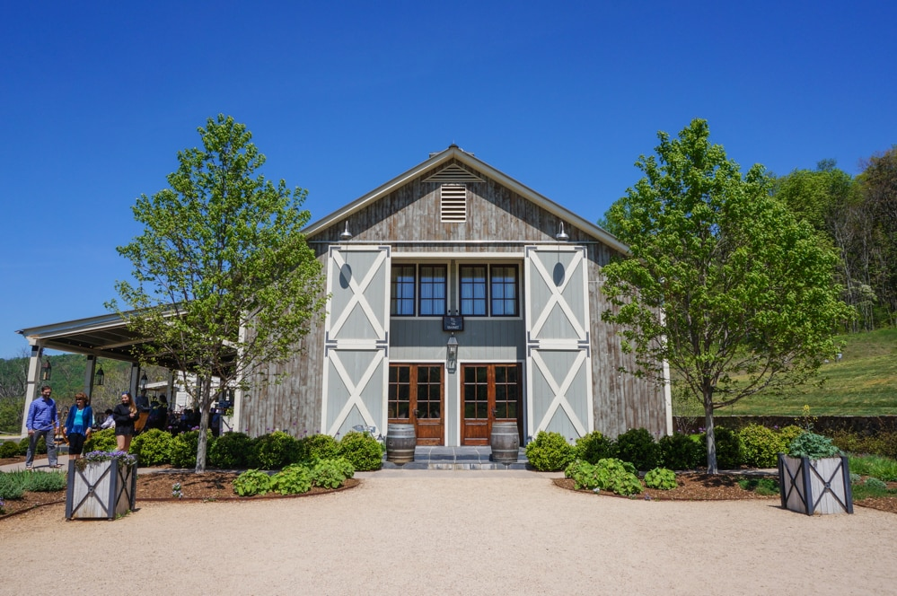 The barn at Pippin Hill Farm and Vineyards