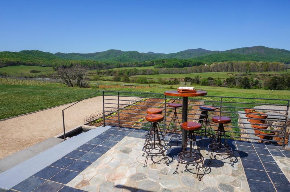 Views of the Blue Ridge Mountains, Pippin Hill Farm