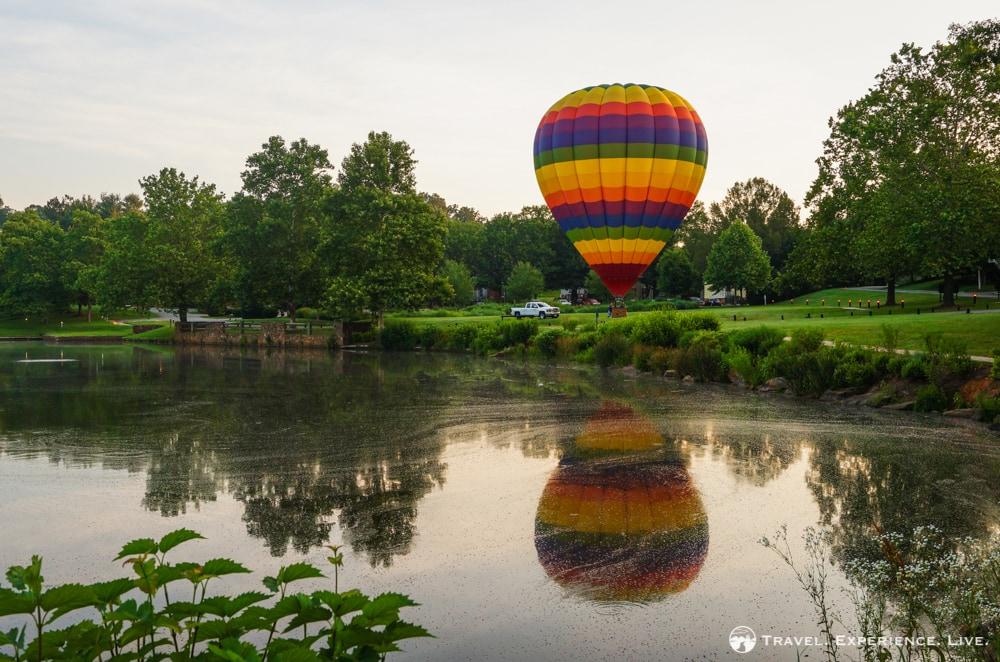 Hot air balloon at Boar's Head Inn, Charlottesville