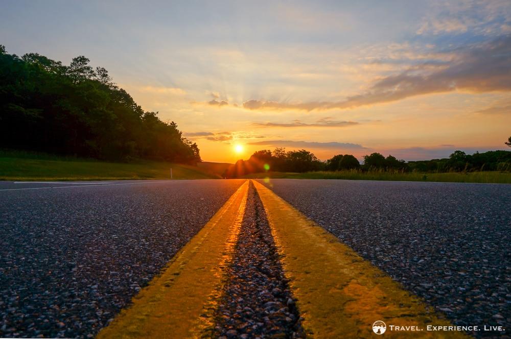 Sunrise on Skyline Drive, Shenandoah National Park
