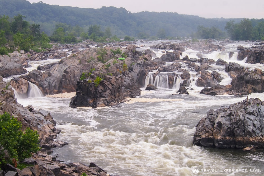 Great Falls Park waterfalls in Virginia