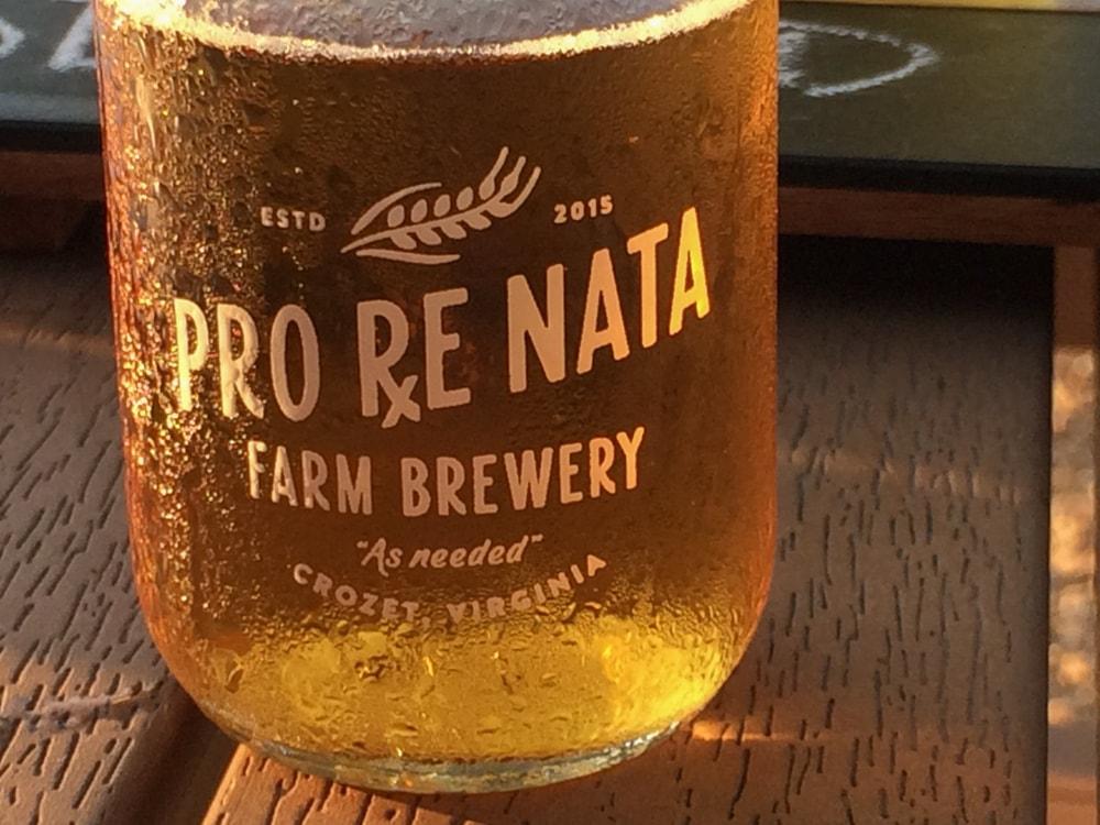 Beer at Pro Re Nata Farm Brewery