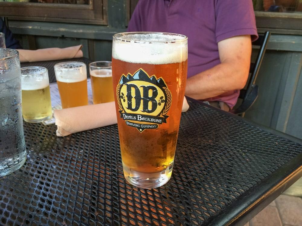Devils Backbone Brewing Company craft beer pint