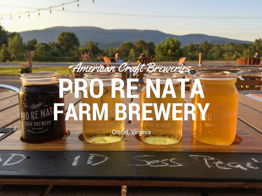 Pro Re Nata Farm Brewery in Crozet, Virginia
