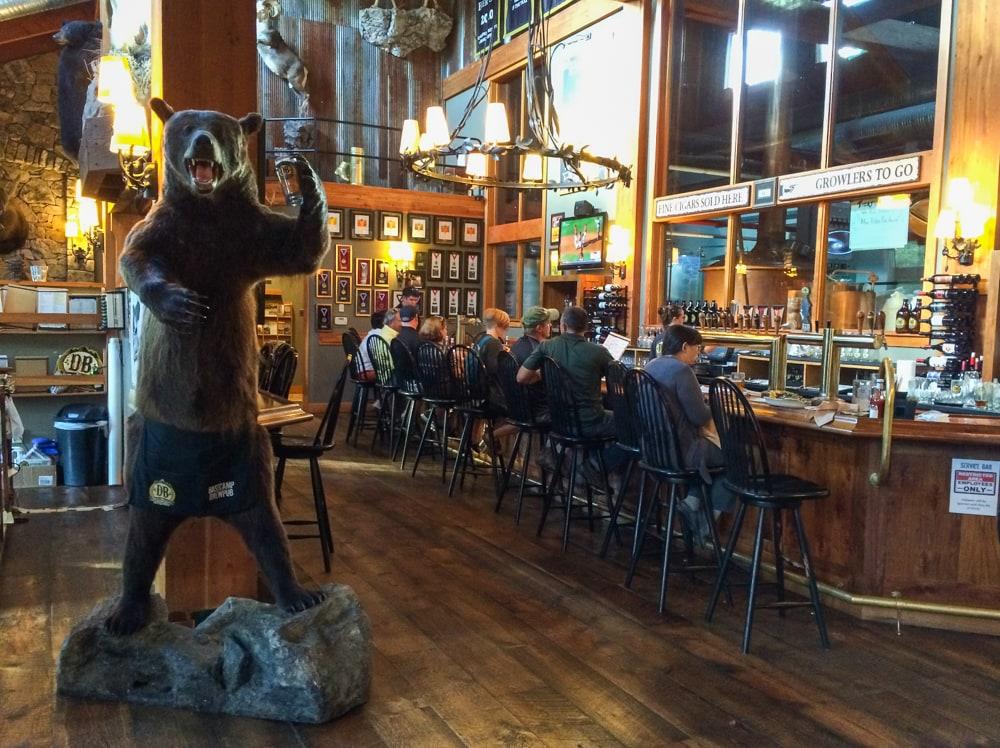 Tasting room, Devils Backbone Brewing Company