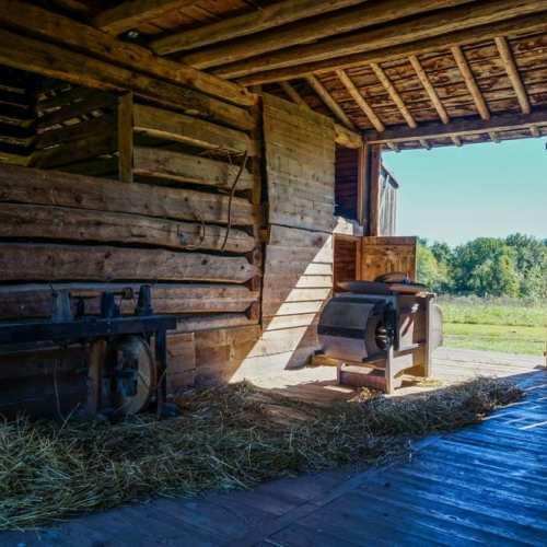 Barn at the mid-19th-century American Farm