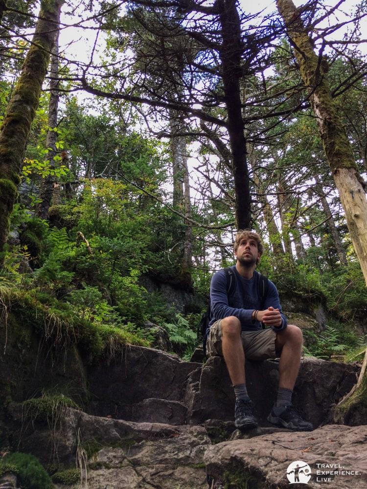 A break from hiking, Mount Rogers, Virginia